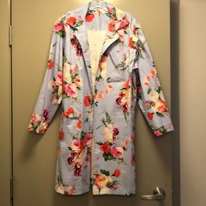Jackets & Blazers - Floral Lab Coat designed and made by me!